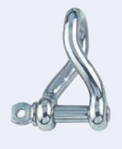 shackle for sailboats with captive pin / twist / stainless steel / forged