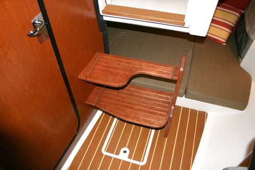 wooden boat step