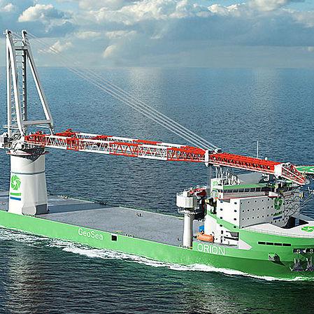 ship crane / for heavy loads