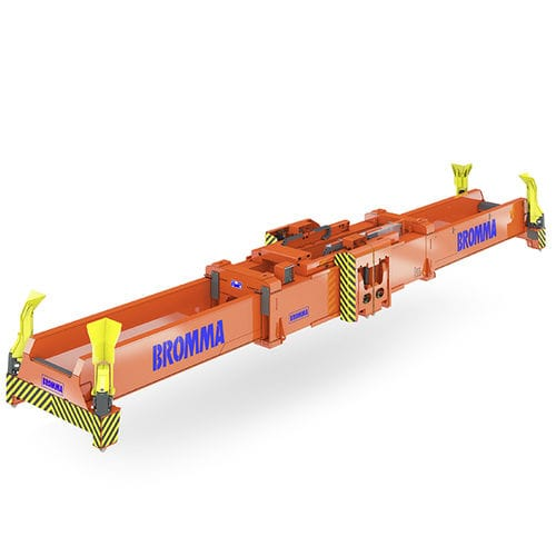 stacking crane spreader / for containers / telescopic / electric