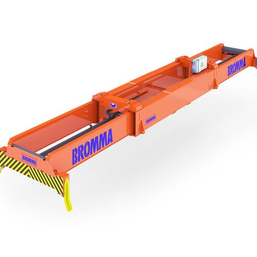 stacking crane spreader / for containers / telescopic / twin-lift type