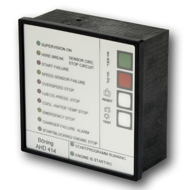 start and stop system for diesel propulsion engines for yachts and ships (with alarm system)
