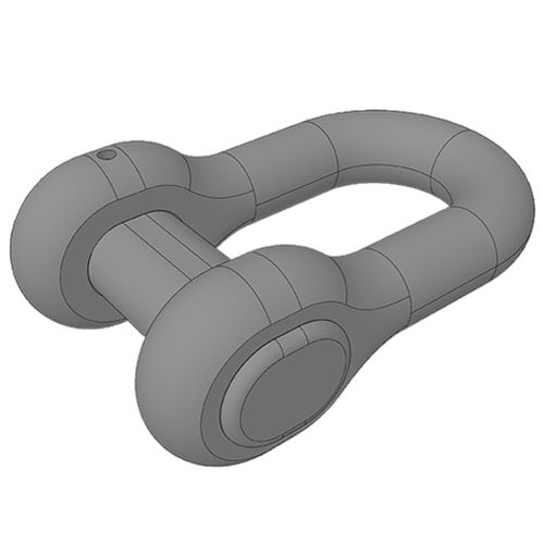 straight shackle for ships / anchor chain
