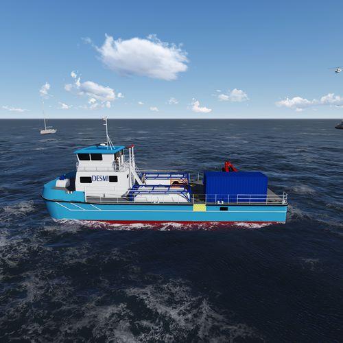 work boat professional boat / catamaran / inboard