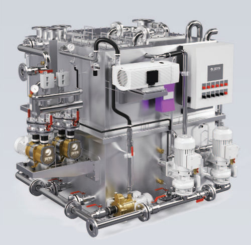 wastewater treatment system / for ships / organic / vacuum