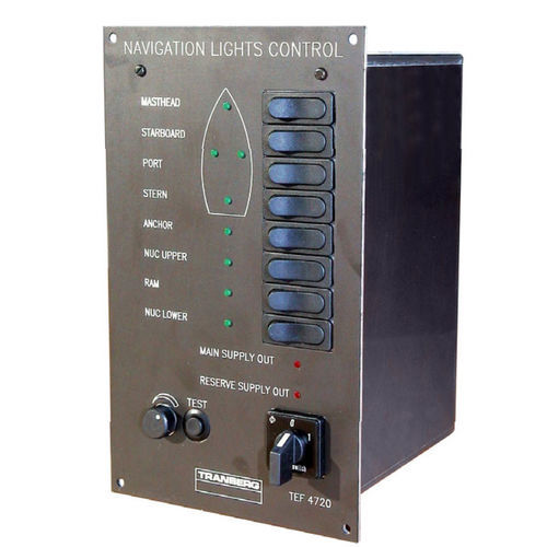 ship monitoring and control panel / navigation light / with alarm