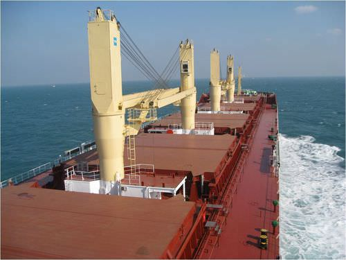 ship crane / deck / luffing jib