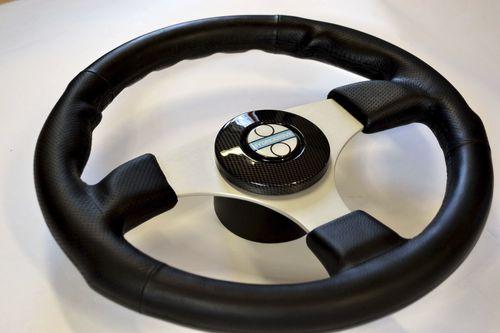 aluminum power boat steering wheel