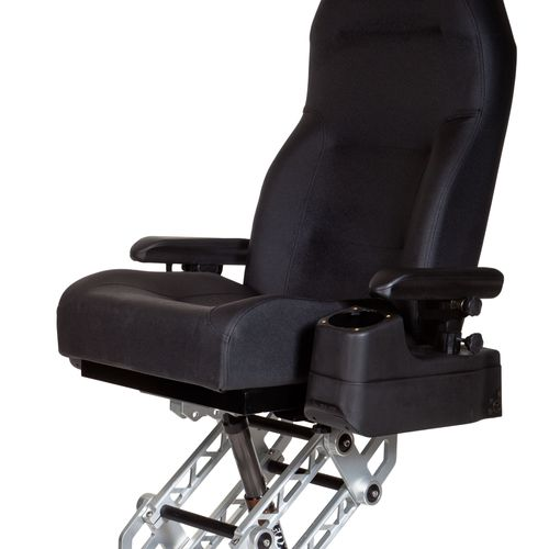 bucket seat / for boats / with armrests / suspension