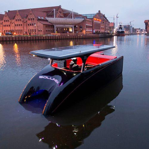 catamaran small boat / inboard / solar-electric powered / 10-person max.
