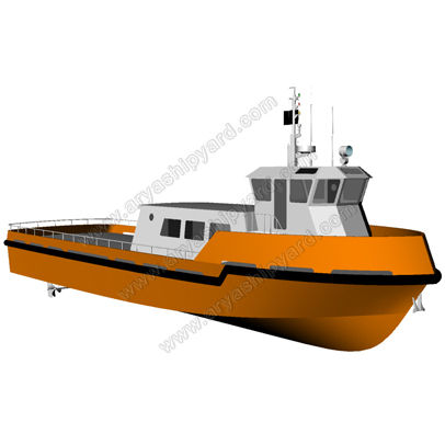logistics transport boat / inboard / aluminum