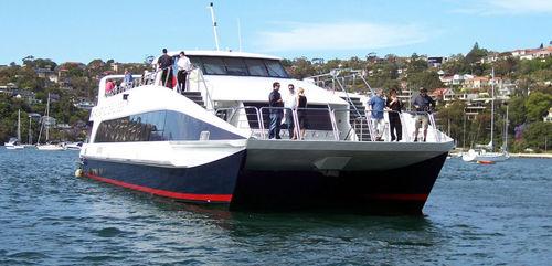 logistics transport boat / catamaran / inboard waterjet / aluminum