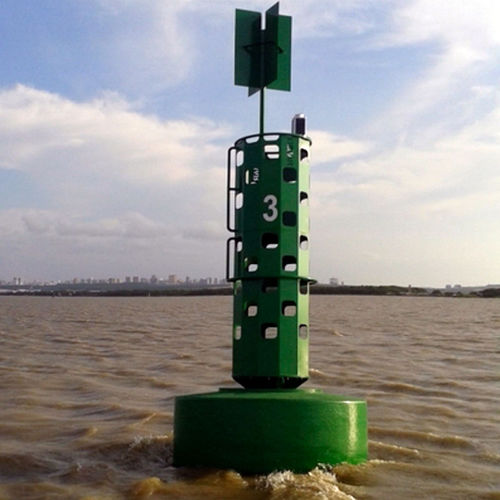 oceanographic buoy / with radar reflector / solar / foam