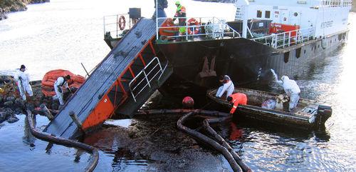 belt oil skimmer / for ships