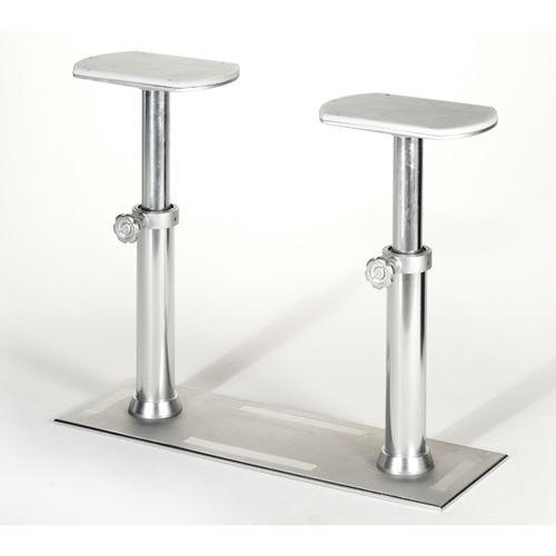 adjustable boat table pedestal / pneumatic / telescopic / aluminum