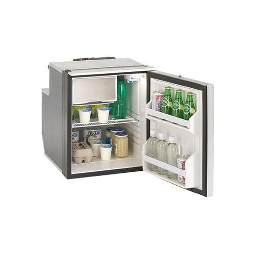 boat refrigerator-freezer / built-in / compressor / stainless steel