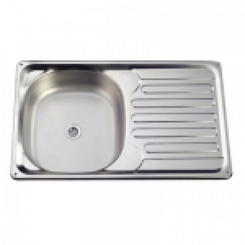 rectangular sink / stainless steel / for boats