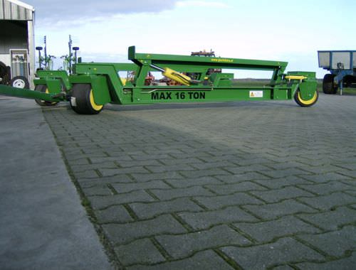 handling trailer / shipyard / hydraulic / all-wheel steering