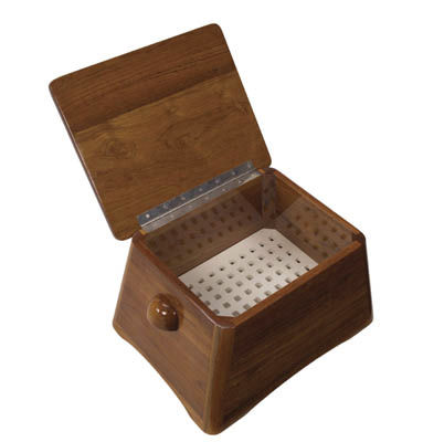 wooden boat step / with storage compartment