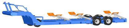 road trailer / heavy haul / for boats / hydraulic