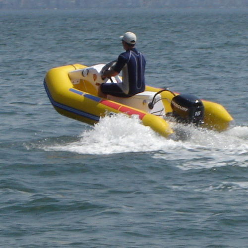 outboard inflatable boat / RIB / 4-person max. / trailerable