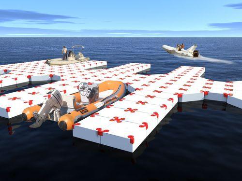 modular dock / floating / mooring / boat