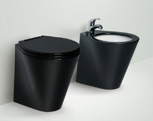 marine toilet / gravity flush / carbon