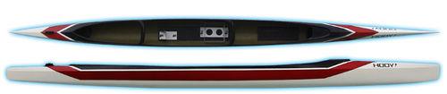 flatwater canoe / racing / solo