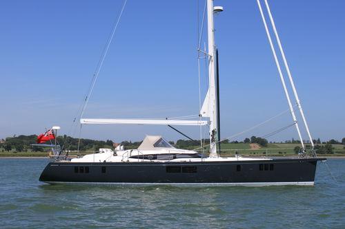 cruising sailing yacht / deck saloon / center cockpit / 4-cabin