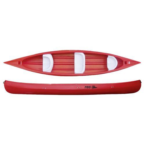 river running canoe / 4-seater / 3-person / polyethylene