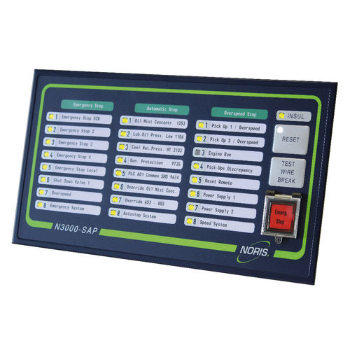 safety system with emergency stop system (for diesel propulsion engines for yachts and ships)