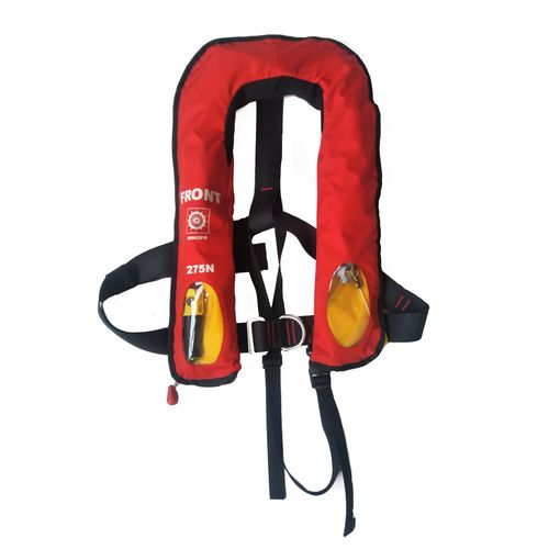 self-inflating life jacket / 275 N / with safety harness / professional