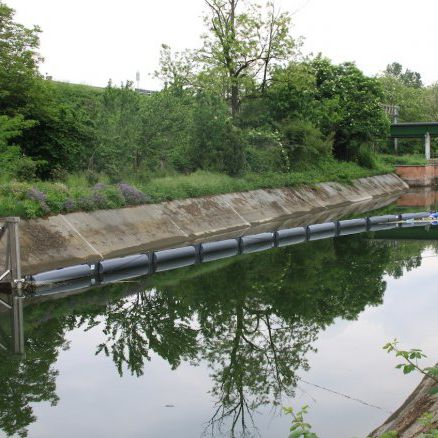 pollution control boom / rigid-float / permanent / sheltered waters