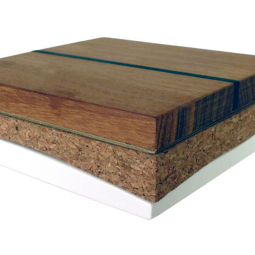 cork sandwich panel / soundproofing / for thermal insulation / for ship floors