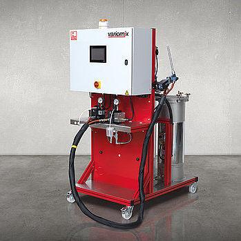 resin metering - mixing unit / with piston pump / shipyard