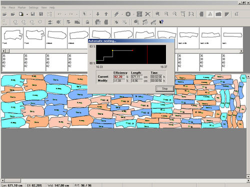 software for fabric cutting applications / nesting / shipyard