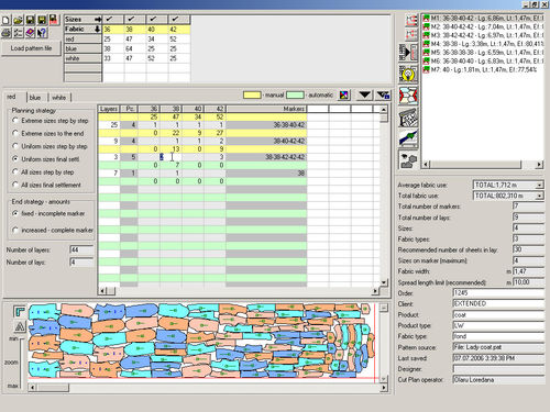 software for fabric cutting applications