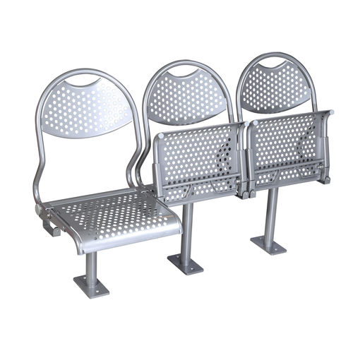 passenger ship seat / fold-down / stainless steel