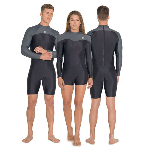 freediving wetsuit without neoprene / long-sleeve / one-piece / shorty