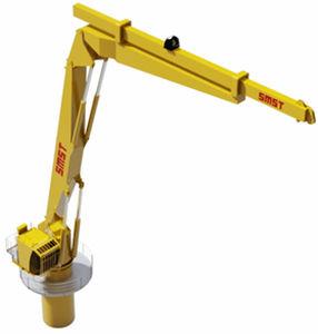 active heave compensation crane / for ships / deck / folding