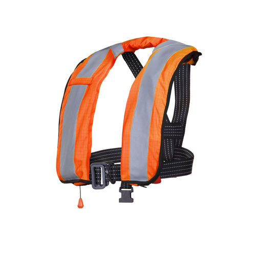 foam life jacket / self-inflating / 275 N / with safety harness