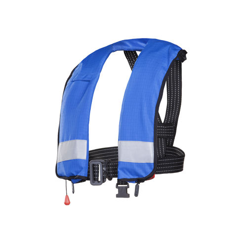self-inflating life jacket / 150 N / with safety harness / fire-retardant
