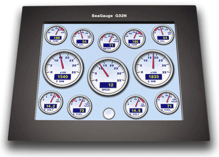 ship display / multi-function / LCD / touch screen