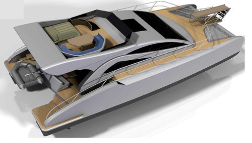 catamaran motor yacht / sport-fishing / hard-top