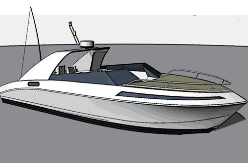 inboard express cruiser / 12-person max.