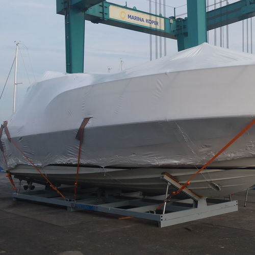 motor boat cradle