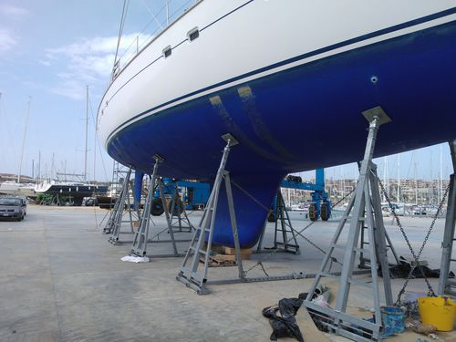 sailboat boat stand / adjustible tilt