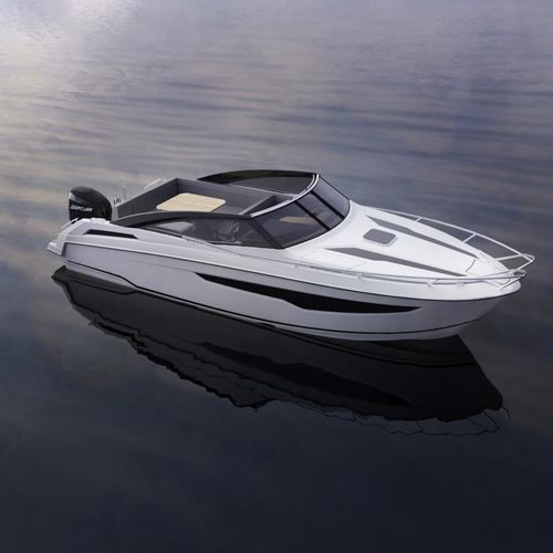 outboard day cruiser / open / 10-person max. / with cabin