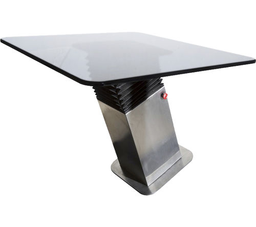 stabilized table pedestal