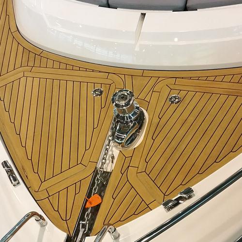 non-slip boat decking / teak slat / teak-effect / synthetic teak